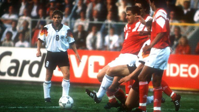 Андрей КАНЧЕЛЬСКИС на Euro-1992 в матче СНГ и Германии. Фото Александр ФЕДОРОВ, «СЭ»