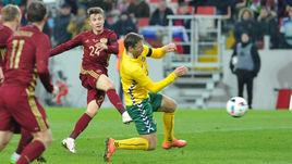 Суббота. Россия - Литва - 3:0. 61-я минута. Александр ГОЛОВИН удваивает счет. Матча и своих голов за сборную.