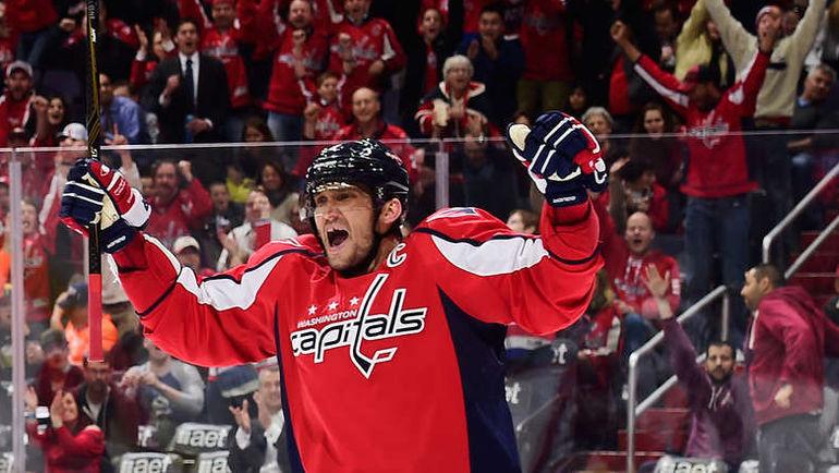 """Понедельник. Вашингтон. """"Вашингтон"""" – """"Коламбус"""" – 4:1. Александр ОВЕЧКИН. Фото НХЛ"""