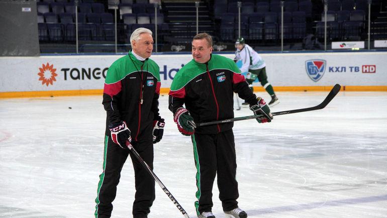 Зинэтула БИЛЯЛЕТДИНОВ и Валерий БЕЛОВ. Фото Александр ВОЛГИН