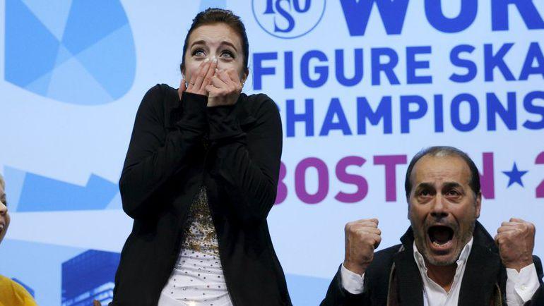 Суббота. Бостон. Эшли ВАГНЕР и ее тренер Рафаэль АРУТЮНЯН. Фото Reuters