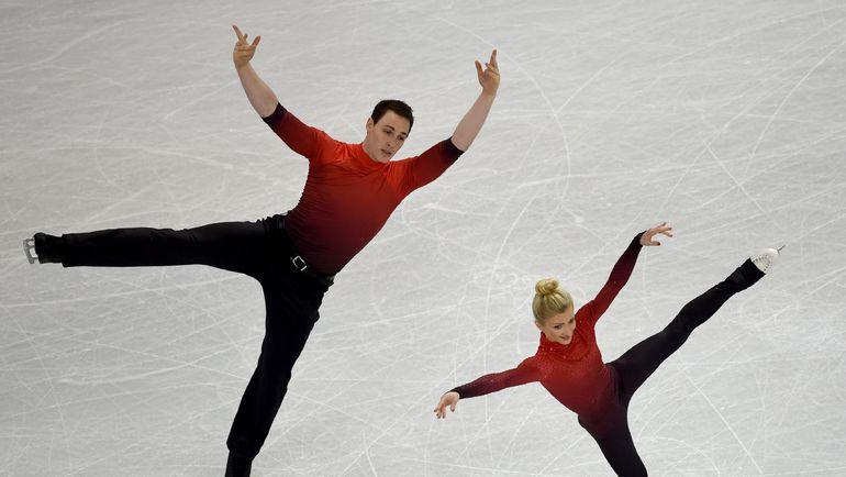 2 апреля. Бостон. Алена САВЧЕНКО и Бруно МАССО. Фото AFP