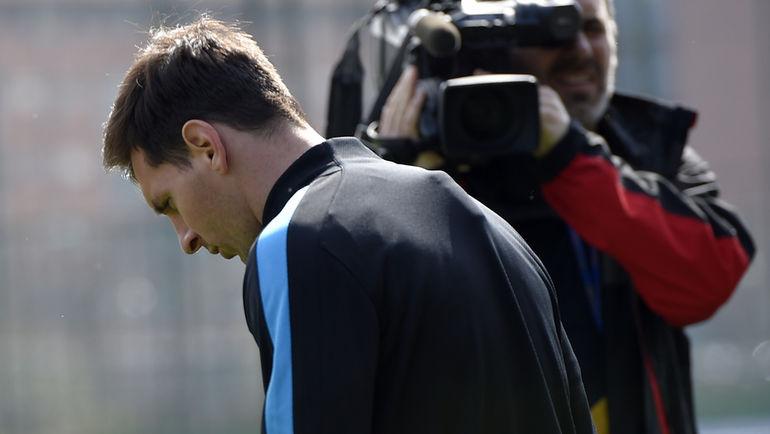 Вчера. Барселона. Лионель МЕССИ на тренировке сине-гранатовых. Фото Reuters