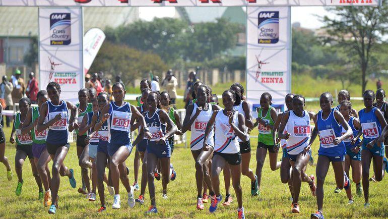 Кенийские атлеты на национальном чемпионате своей страны по бегу по пересеченной местности. Фото Reuters