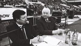 Конец 80-х. Санкт-Петербург. Геннадий ОРЛОВ (слева) и Николай ОЗЕРОВ.