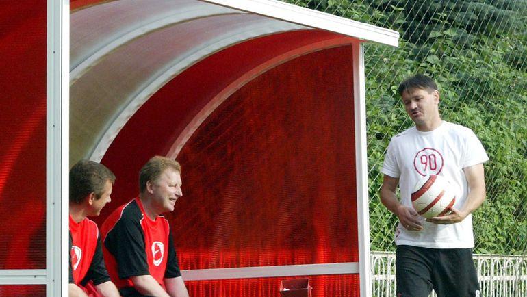 Июль 2005 года. Александр СТАРКОВ и Дмитрий АЛЕНИЧЕВ. Фото Татьяна ДОРОГУТИНА