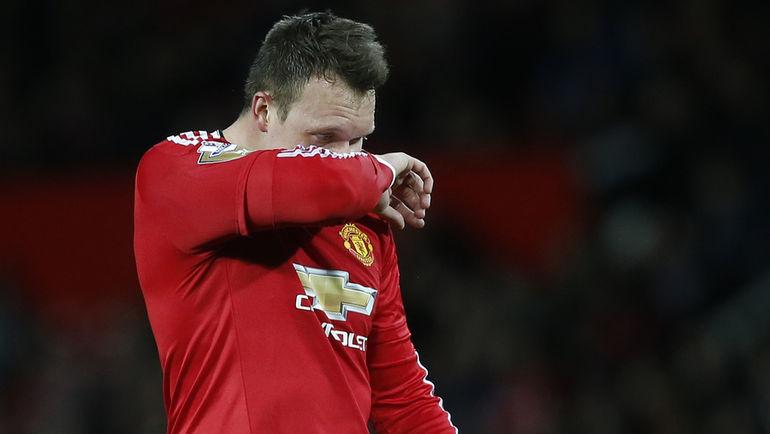 """Защитник """"Манчестер Юнайтед"""" Фил ДЖОУНС. Фото Reuters"""