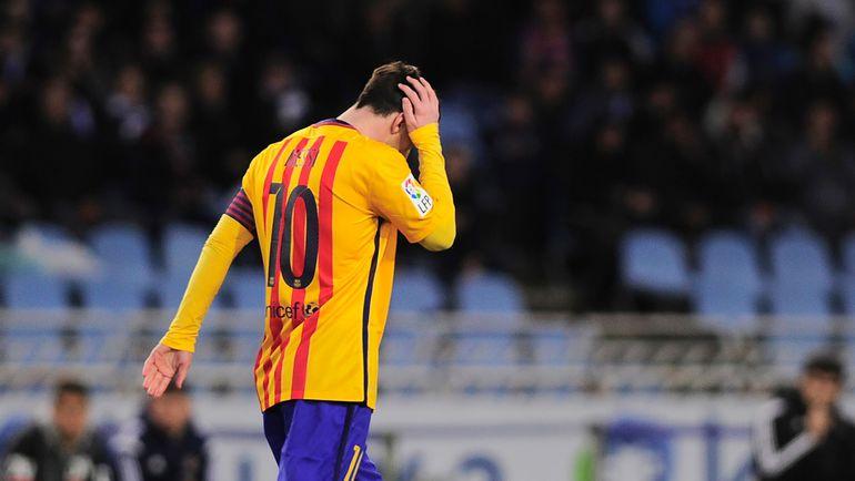 """Лидер """"Барселоны"""" Лионель МЕССИ не может забить на протяжении уже четырех встреч. Фото AFP"""