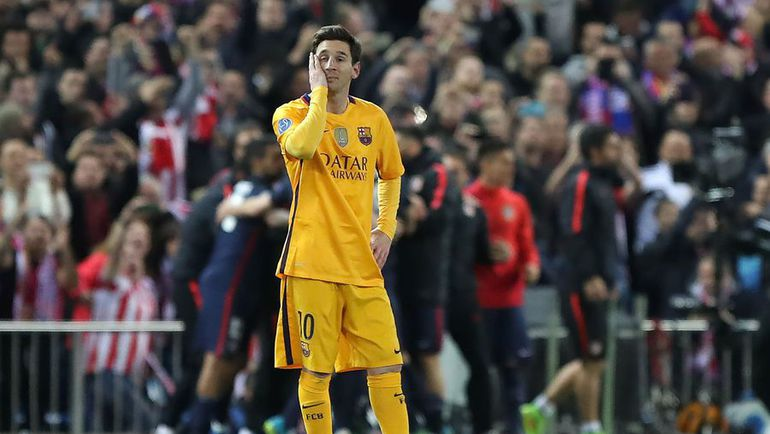 """Среда. Мадрид. """"Атлетико"""" – """"Барселона"""" – 2:0. Нападающий """"Барсы"""" Лионель МЕССИ. Фото AFP"""