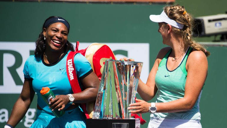 Серена УИЛЬЯМС (слева) недавно проиграла Виктории АЗАРЕНКО в финале турнира в Индиан-Уэллсе. Фото AFP