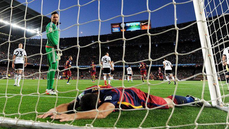 """Воскресенье. Барселона. """"Барселона"""" – """"Валенсия"""" – 1:2. ЛУИС СУАРЕС."""