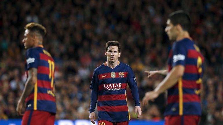 """Воскресенье. Барселона. """"Барселона"""" - """"Валенсия""""- 1:2. 500-й гол не доставил Лионелю МЕССИ большой радости. Фото Reuters"""