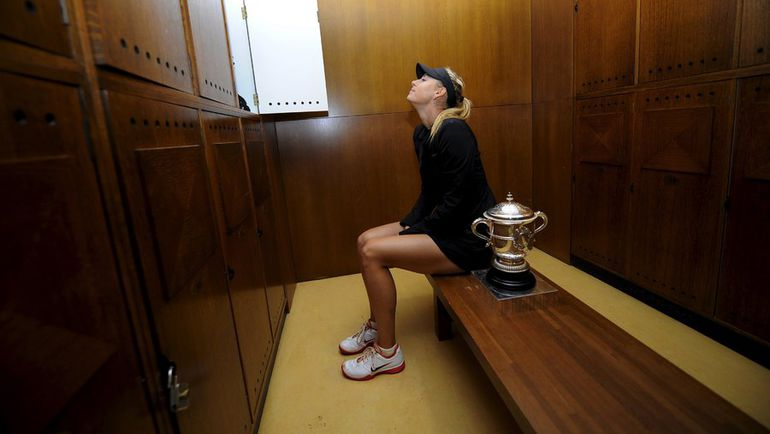 9 июня 2012 года. Париж. Мария ШАРАПОВА - чемпионка Roland Garros. Фото Reuters