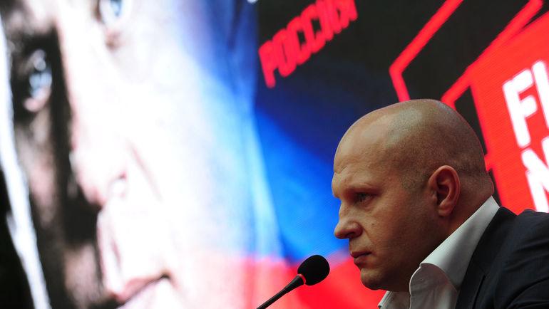 Сегодня. Москва. Федор ЕМЕЛЬЯНЕНКО на пресс-конференции. Фото Федор УСПЕНСКИЙ, «СЭ»