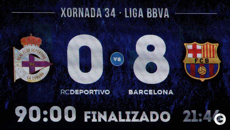 "Среда. Ла-Корунья. ""Депортиво"" – ""Барселона"" – 0:8."