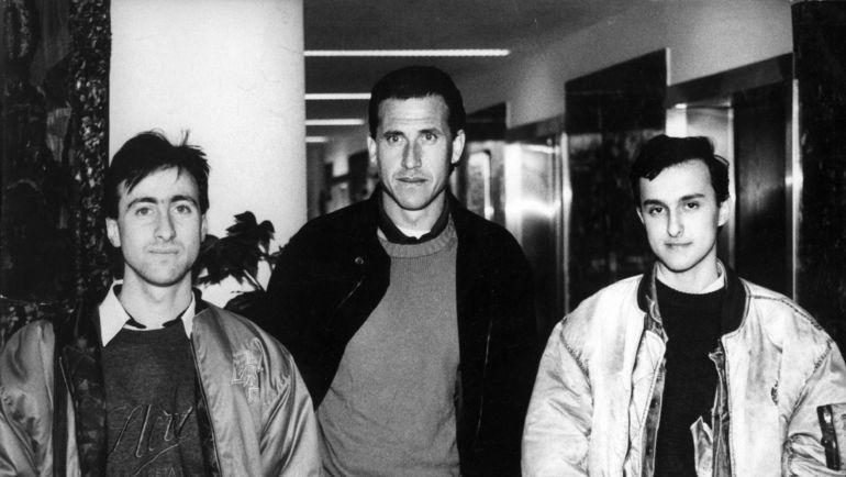 """1994 год. Максим КВЯТКОВСКИЙ (слева), Хорхе ВАЛЬДАНО (в центре) и Александр КРУЖКОВ. Фото """"СЭ"""""""