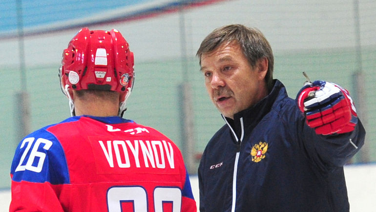 Вячеслав ВОЙНОВ и Олег ЗНАРОК (справа). Фото Федор УСПЕНСКИЙ, «СЭ»