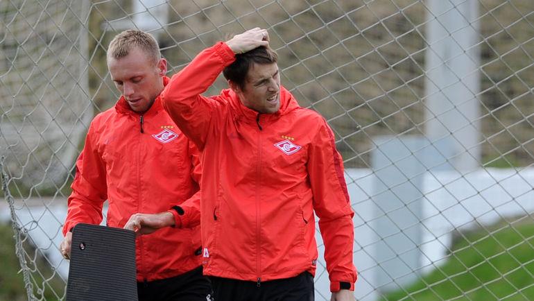 Денис ГЛУШАКОВ и Дмитрий КОМБАРОВ. Фото Алексей ИВАНОВ, «СЭ»