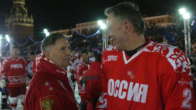 2006 год. Виктор ТИХОНОВ и Вячеслав ФЕТИСОВ. Фото Александр ВИЛЬФ