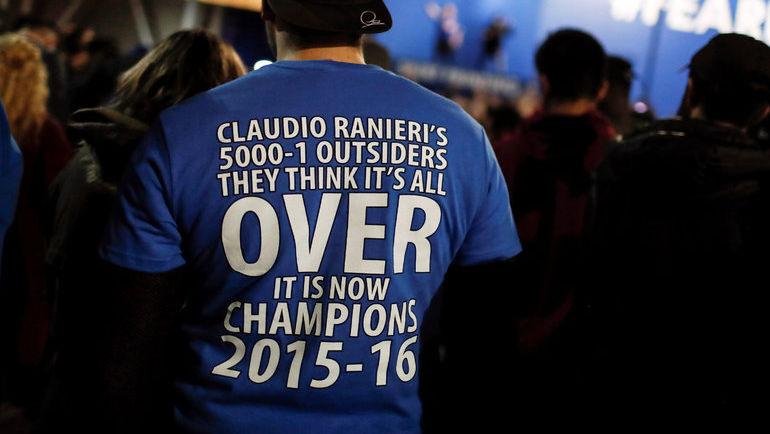"""Перед началом сезона на чемпионство """"Лестера"""" ставили 5000 к 1. Фото Reuters"""