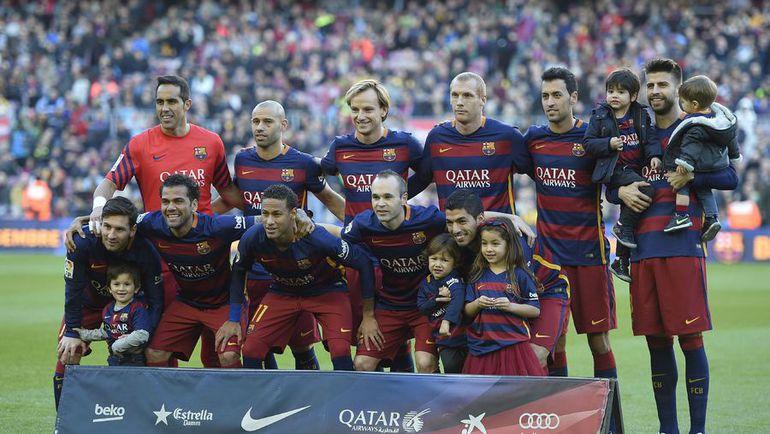 """Предматчевое фото """"Барселоны"""". Фото AFP"""