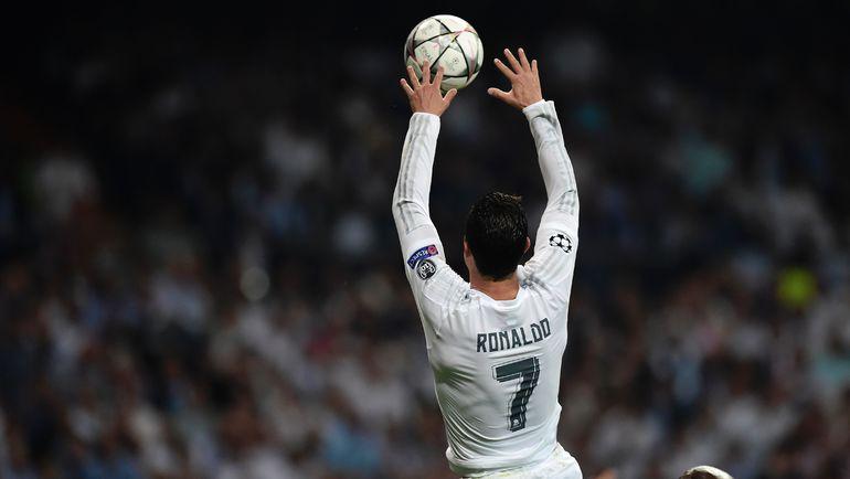 """Сегодня. Мадрид. """"Реал"""" - """"Манчестер Сити"""". """"Данк"""" КРИШТИАНУ РОНАЛДУ. Фото AFP"""