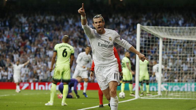"""Сегодня. Мадрид. """"Реал"""" - """"Манчестер Сити"""" - 1:0. 20-я минута. Гарет БЭЙЛ празднует победный гол. Фото Reuters"""