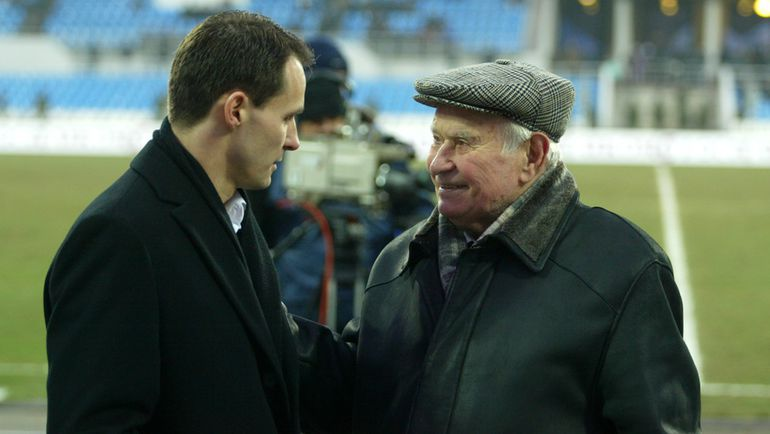 "2000-е. Константин БЕСКОВ (справа) и Андрей КОБЕЛЕВ. Фото Александр ФЕДОРОВ, ""СЭ"""