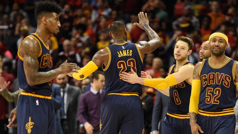 """25 точных трехочковых """"Кливленда"""" - новый рекорд НБА. Фото USA Today Sports"""