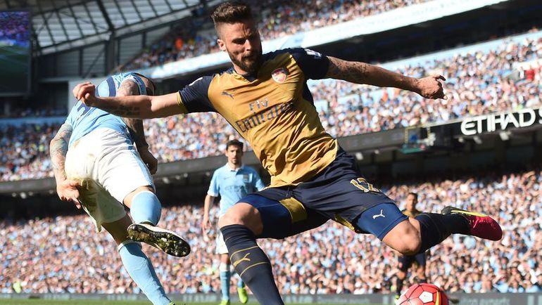 "Сегодня. Манчестер. ""Манчестер Сити"" – ""Арсенал"" – 2:2. Нападающий ""Арсенала"" Оливье ЖИРУ. Фото AFP"