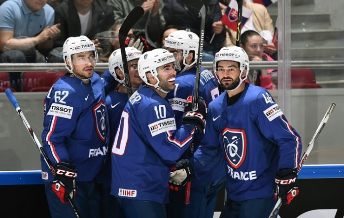 Венгрия – Франция. Фото IIHF
