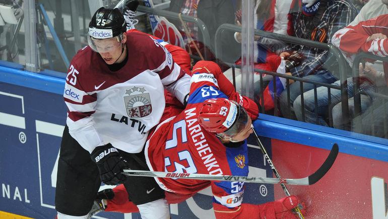 Алексей МАРЧЕНКО (№53) - один из самых полезных игроков сборной России. Фото Александр ФЕДОРОВ, «СЭ»