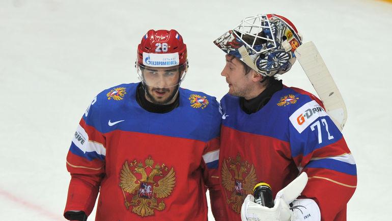 Сергей БОБРОВСКИЙ (справа) и Вячеслав ВОЙНОВ. Фото Александр ФЕДОРОВ, «СЭ»