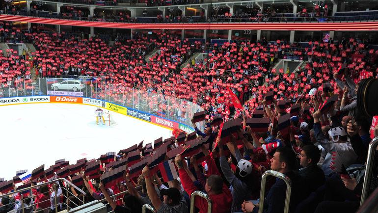 Футбол с федерального канала потеснил чемпионат мира по хоккею. Фото Александр ФЕДОРОВ, «СЭ»