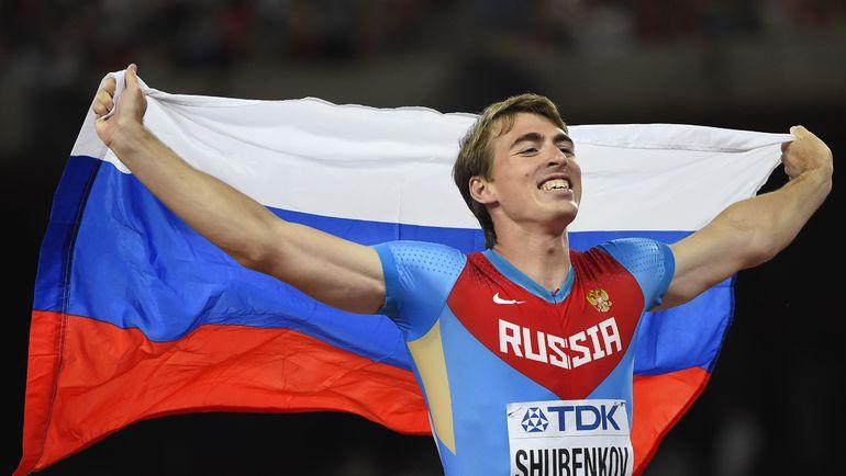 Чемпион мира-2015 в беге на 110 метров с барьерами Сергей ШУБЕНКОВ. Фото Reuters