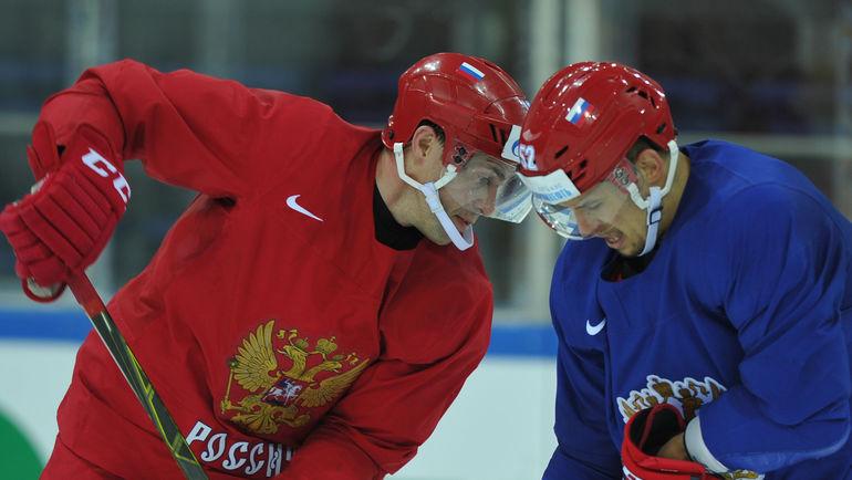 """Павел ДАЦЮК (слева) и Сергей ШИРОКОВ. Фото Александр ФЕДОРОВ, """"СЭ"""""""