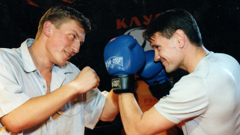 2000 год. Алексей ЗИНИН и Дмитрий АЛЕНИЧЕВ. Фото из архива Алексея ЗИНИНА