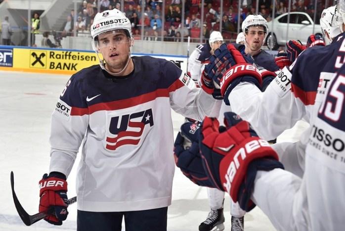США – Венгрия. Фото IIHF