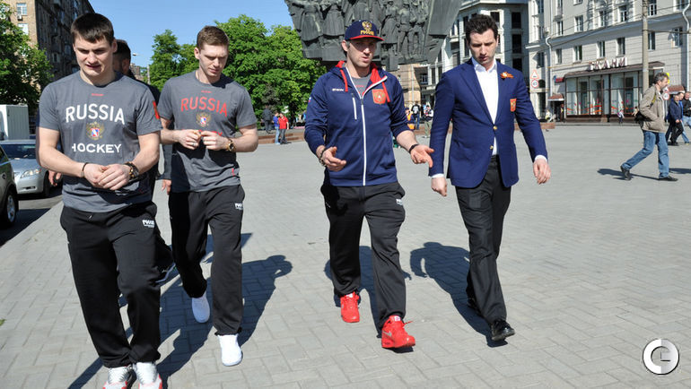 Дмитрий ОРЛОВ, Евгений КУЗНЕЦОВ, Александр ОВЕЧКИН и Роман РОТЕНБЕРГ.