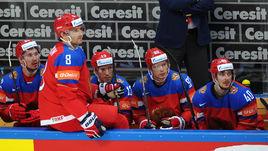 Сегодня. Москва. Россия - Швейцария - 5:1. Александр ОВЕЧКИН (8) дебютировал на домашнем чемпионате мира.