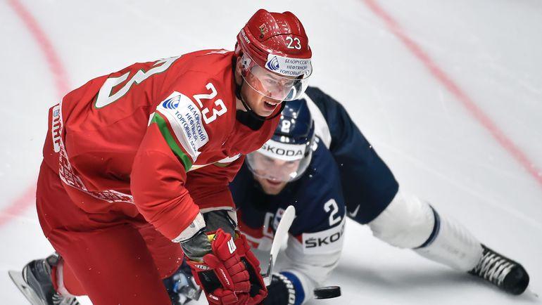 Нападающий сборной Белоруссии Андрей СТАСЬ. Фото AFP
