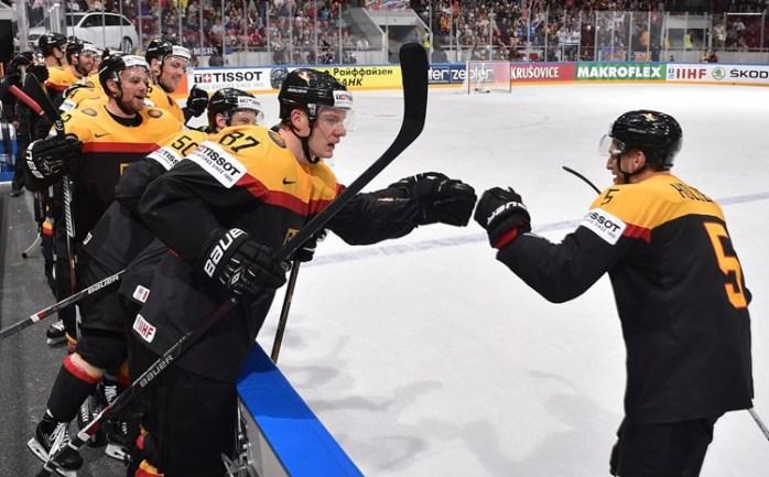 Германия – Венгрия. Фото IIHF