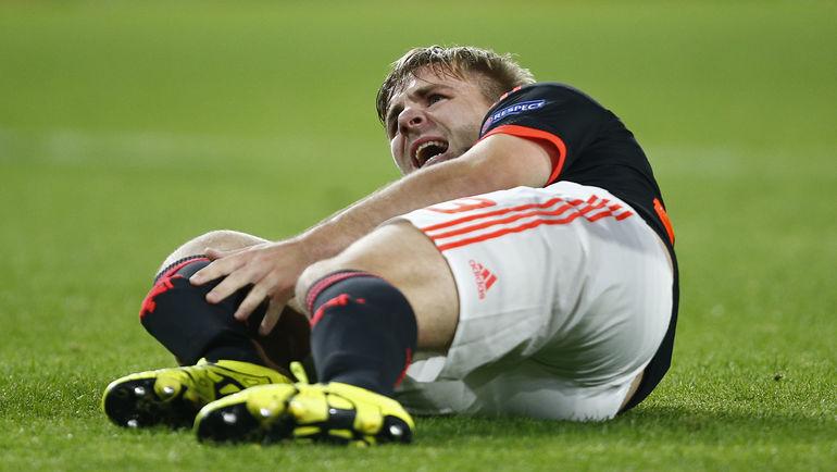 Серьезная травма, полученная в сентябре, не позволит Люку ШОУ выступить на чемпионате Европы. Фото Reuters