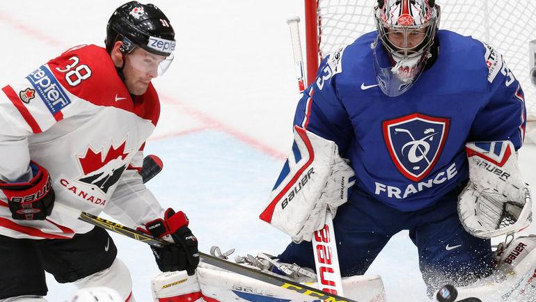 Сегодня. Санкт-Петербург. Канада - Франция - 4:0. Канадцы одержали шестую победу на ЧМ-2016. Фото Reuters