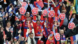 Сегодня. Москва. Россия - Норвегия - 3:0. Болельщики сборной России.