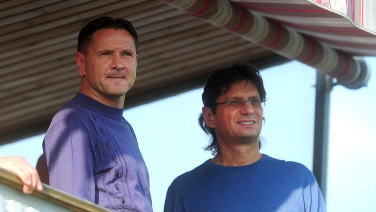 Леонид ФЕДУН (справа) и Дмитрий АЛЕНИЧЕВ. Фото Федор УСПЕНСКИЙ, «СЭ»