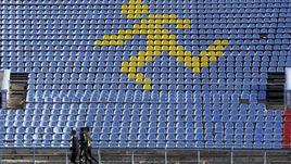 Легкоатлетический стадион в Ставрополе.