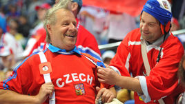 Болельщики сборной Чехии.