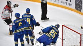 Сегодня. Санкт-Петербург. Канада – Швеция – 6:0. Очередная шайба в воротах