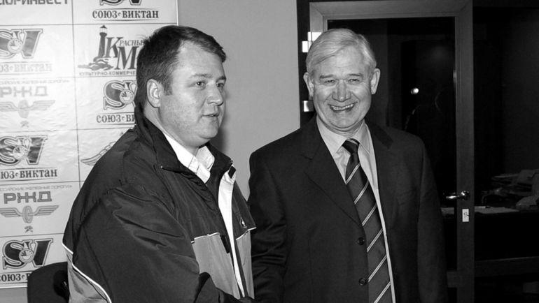 2005 год. Ярославль. Владимир ЮРЗИНОВ-старший (справа) и Владимир ЮРЗИНОВ-младший. Фото Сергей ШУБКИН